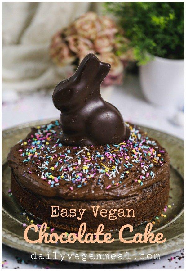 easy vegan chocolate cake alternate