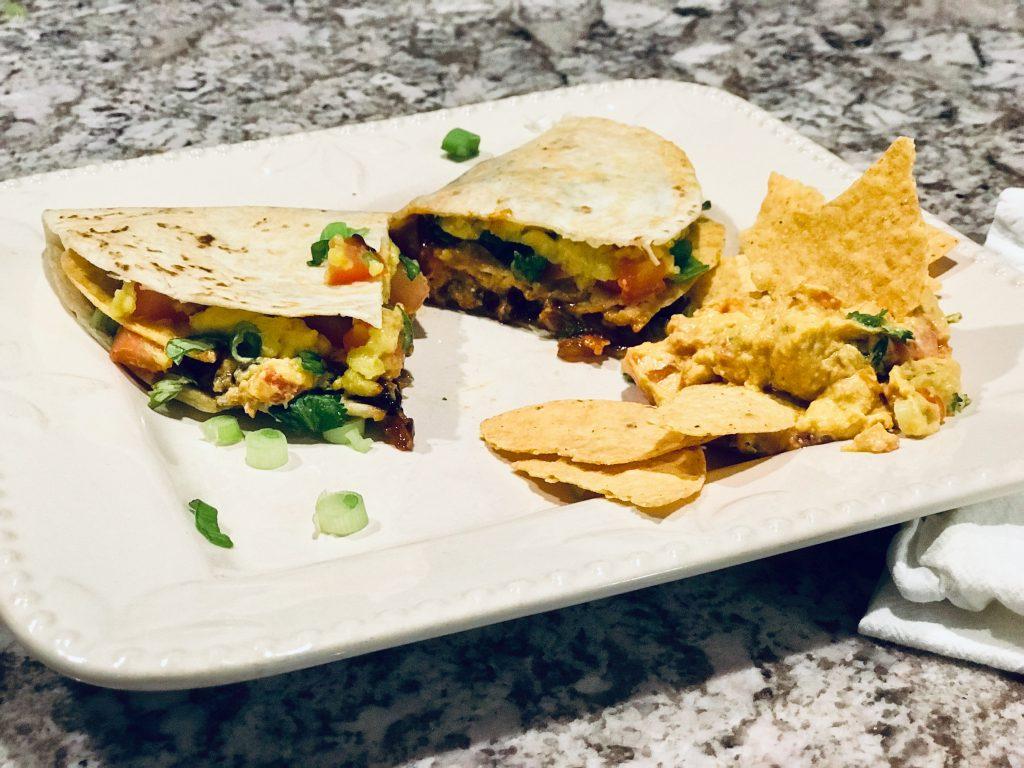 Vegan Crunchy Quesadillas