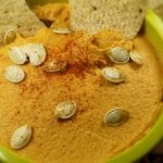 Pumpkin Hummus with Roasted Red Pepper