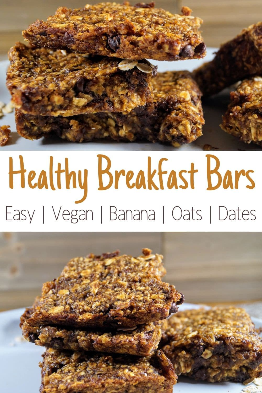 Healthy Vegan Banana Oatmeal Date Bars