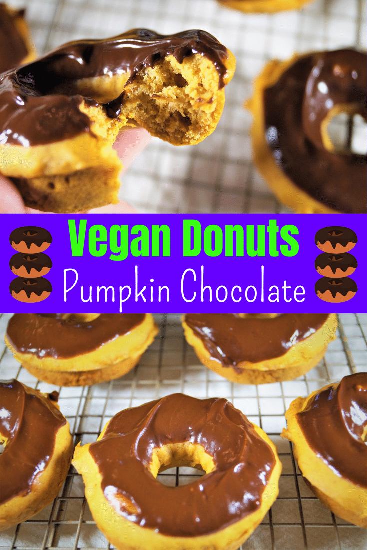 Vegan Pumpkin Chocolate Donuts Pinterest