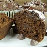 Chocolatey Vegan Pumpkin Muffins