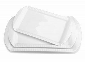 Large Porcelain Platter Set of 3