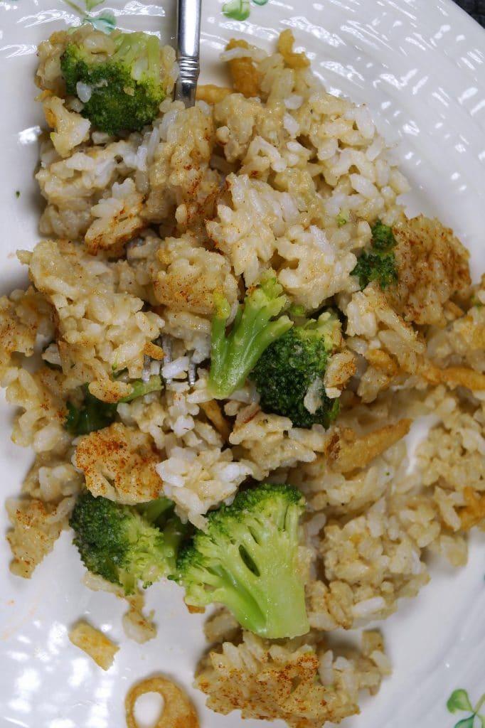 Vegan Broccoli Rice Casserole