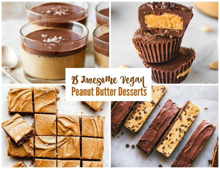 25 Awesome Vegan Peanut Butter Desserts - Peanut butter lovers are gonna be obsessed with all 25 of these Awesome Vegan Peanut Butter Desserts! You know peanut butter makes the world go round to bring the smiles! It's so popular and amazing in everything! Even if you aren't vegan, you will be in heaven with this lovely round up of peanut butter yumminess! #vegan #veganpeanutbutter #peanutbutter #vegandesserts #veganpeanutbutterdesserts #desserts #plantbaseddesserts