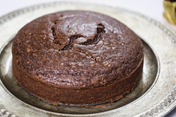 cake before ganache