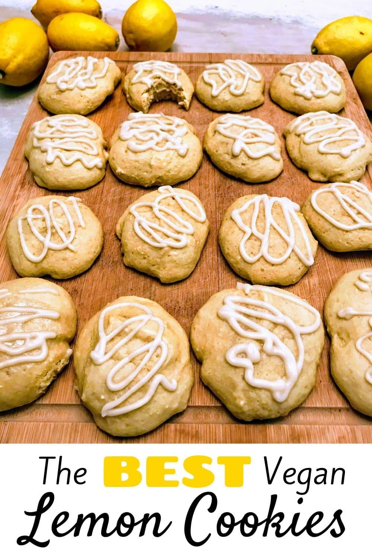 The BEST Vegan Lemon Cookies for Pinterest