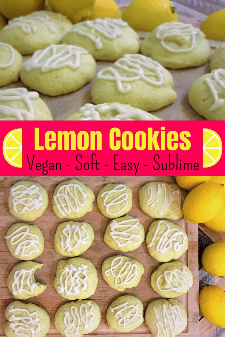 Vegan Lemon Cookies Pinterest