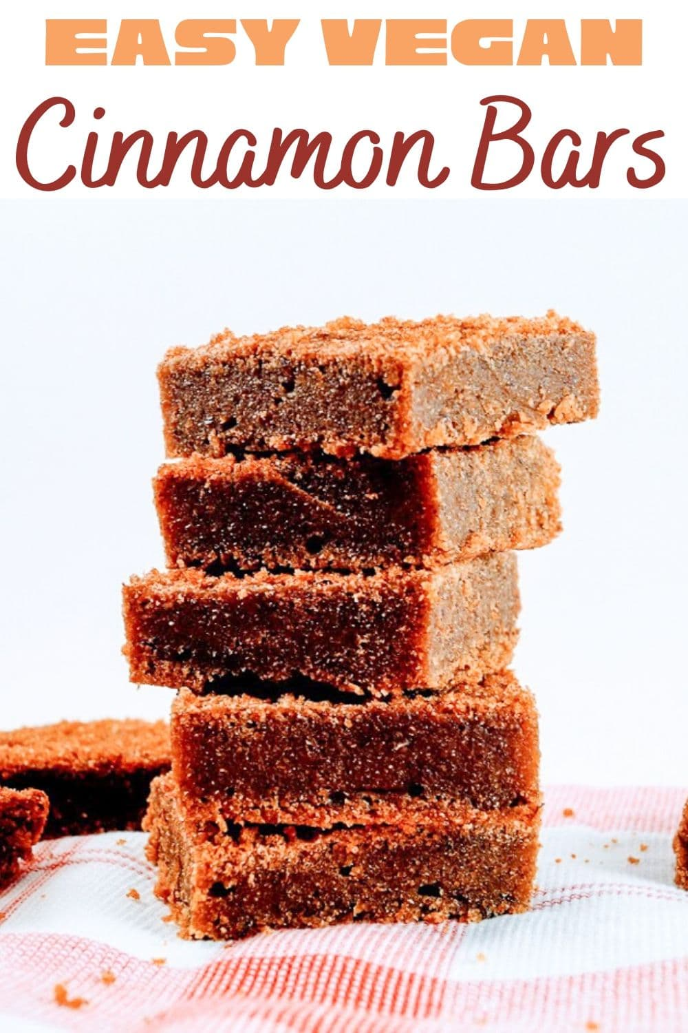 Easy Vegan Cinnamon Bars for Pinterest