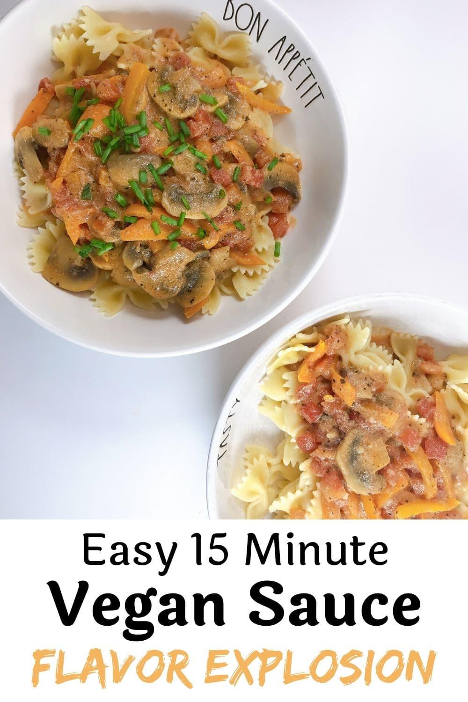 Quick Vegan Sauce for Pasta or Rice Flavor Explosion