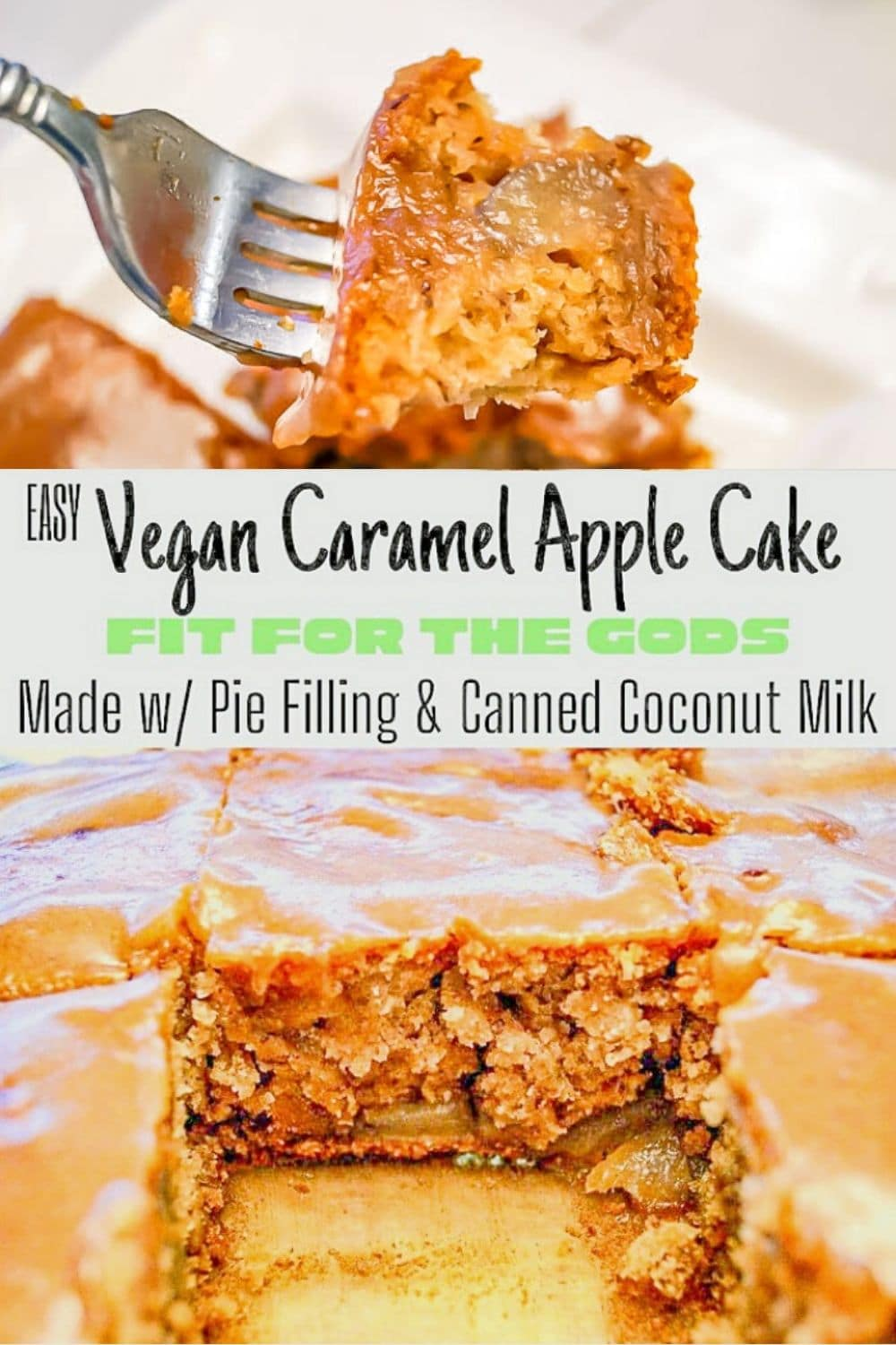 Vegan Caramel Apple Cake for Pinterest