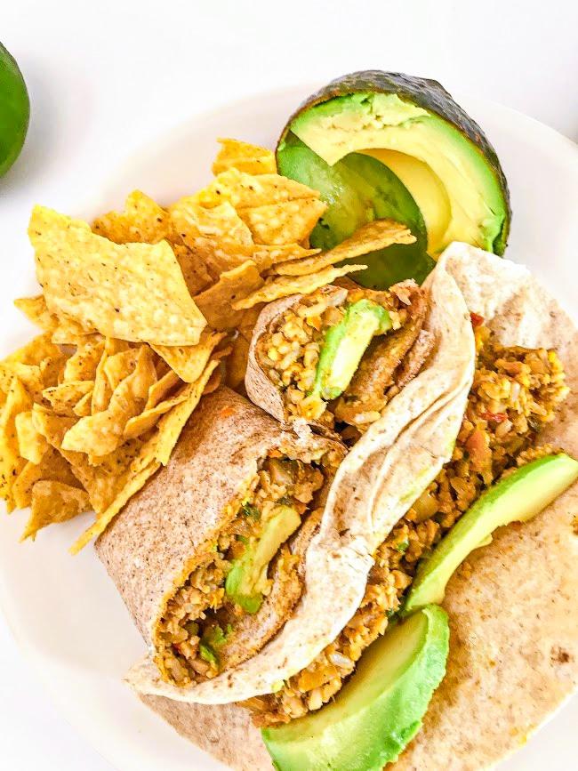 quick easy healthy vegan burritos