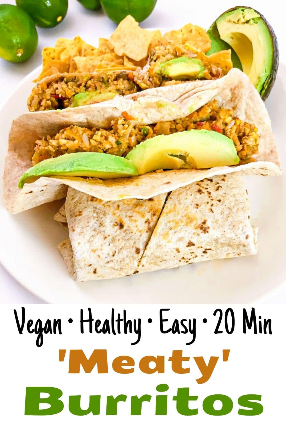 quick and easy vegan healthy meaty burritos for pinterest