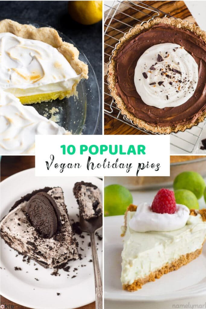 10 Popular Vegan Light & Fluffy Holiday Pies You'll Love! There's nothing better than a huge slice of pie for the holidays or any upcoming celebrations coming up when you want something sweet, light, fluffy and creamy good! Let's dig in!!